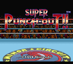 Super Punch-Out!! - Introduction  - Title Screen - User Screenshot